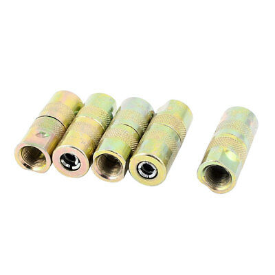 Excavator 4 Jaws Type Pressure Grease Nipple Connector Coupler 5pcs