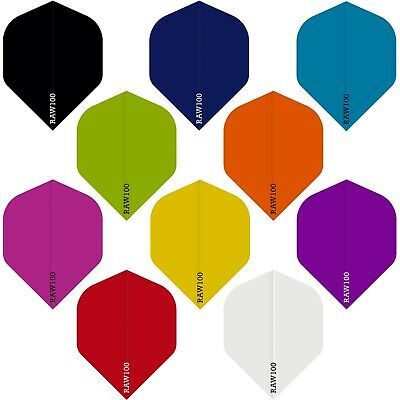 10 x SETS EXTRA TOUGH DART FLIGHTS - RAW100 STANDARD LIKE R4X RHINO - 10 COLOURS