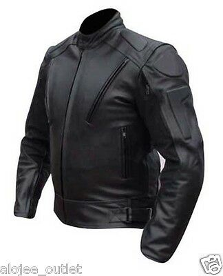 Mens Motorbike Motorcycle maqo Leather Jacket CE Armoured
