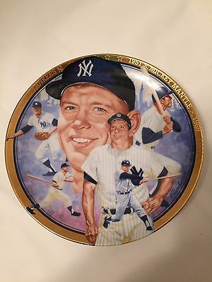 1992 Limited Edition Mickey Mantle Signed Plate Hamilton Collection 2132C