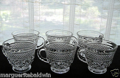 Anchor Hocking Glass 6 Clear Wexford 8 oz Punch Cups