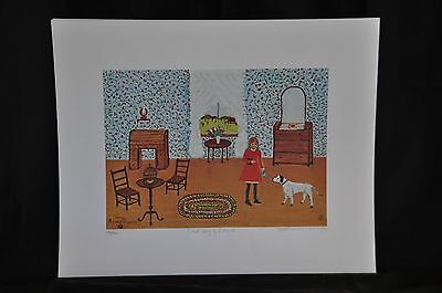 First Day Original Lithograph by Mother Kimbrough 131/500 Signed and Numbered