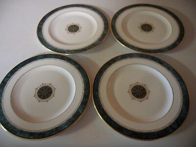 """Lenox China ~ Monument Green ~ Accent Collection  Salad Plate 8 1/4"""" Set Of 4"""