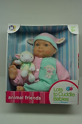 "Animal Friends Lots to Cuddle Babies Berenguer 15"" Vinyl Baby JC Toys Doll NIB"