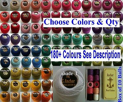 1 ANCHOR Pearl Cotton Crochet Embroidery Thread Ball 1 Flat / Free Postage. 200+