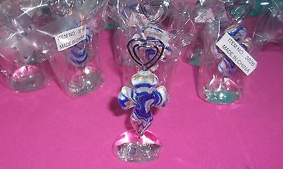 """{12} MURANO GLASS"""" ART DECO COLLECTION CROSS """"PLACE CARD HOLDERS @NEW@W/LABELS@"""