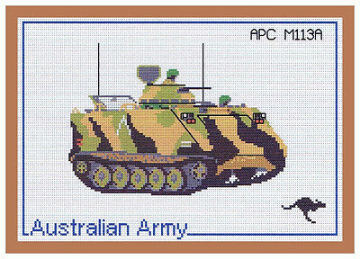 """Army APC M113A"" Counted Cross Stitch Chart EU314C"