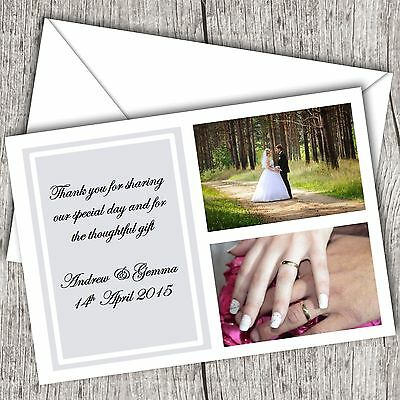 Photo WEDDING Thank You Cards • Personalised • Fast Post (2 Photos)