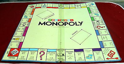 Vintage 1970's Well Used Monopoly Game Board Made In Australia By Toltoys!!