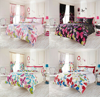 Duvet Cover Set With 2 Pillow Cases Bedding Quilt Cover Set All Sizes Butterfly