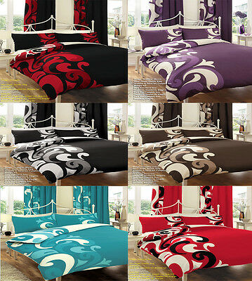 Duvet Cover Set With 2 Pillow Cases Bedding Quilt Cover Set All Sizes Grandeur