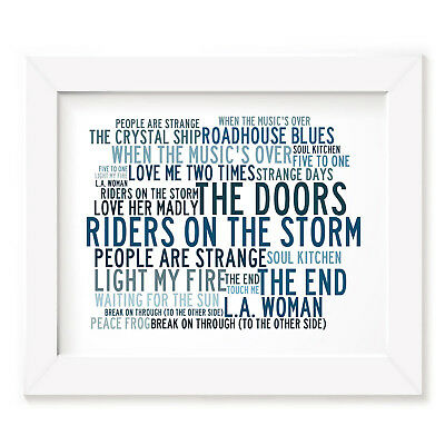 `Crystalline` THE DOORS Art Print Typography Song Lyrics Signed Numbered Poster