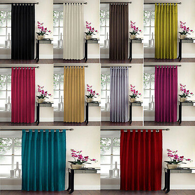 Luxury Sequin Tab Top Panel Swirl Curtain Ready Made Embroidered Curtain