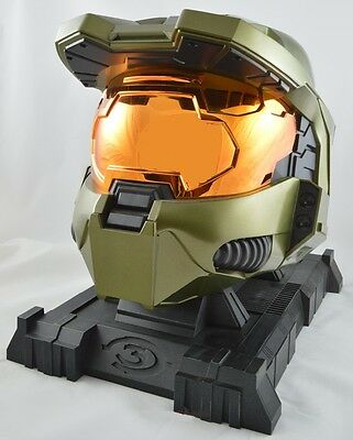 Halo 3 Master Chief Legendary Helmet And Stand casco coleccionista