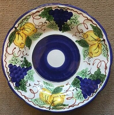 Vietri Pottery-9,1/2in.pasta Bowl Sorrento Patt.Made/painted by hand in Italy