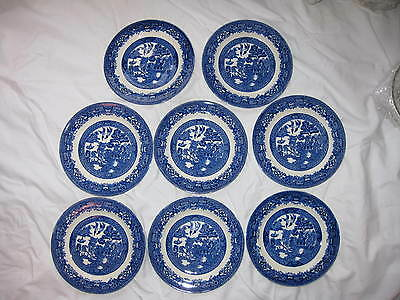 8 Wood & Sons Blue Willow Bread and Butter Plates