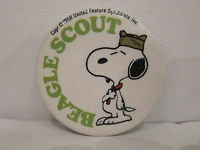 Snoopy Beagle Scout Pinback Button by United Feature Syndicate