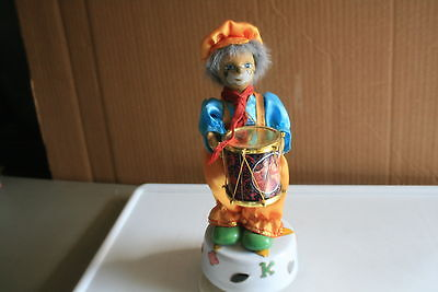 """MUSIC BOX, CLOWN WITH DRUM, """"FUR-ELISE"""", BY BEETHOVEN, MOVEMENT"""