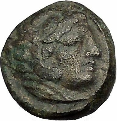 Alexander III the Great as Hercules 336BC Ancient Greek Coin Bow Club i40588