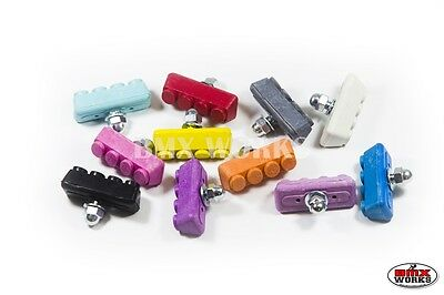 BMX Coloured Brake Pads - Various Colours - Sold In Pairs - Old School BMX Tuffs