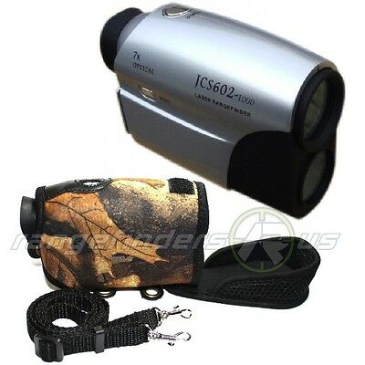 LASER RANGE FINDER 1400m GOLF HUNTING BOW ARCHERY INCLUDES CAMO NEOPRENE COVER