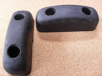 Pair Of Tail Board Rubber Buffers,  Dropside, Horsebox, Trailer, Pickup,tipper