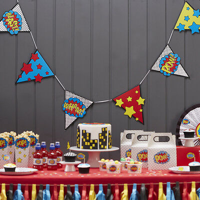 Comic Book Superhero Birthday Party Tableware Decorations,Boys/Adult Birthday