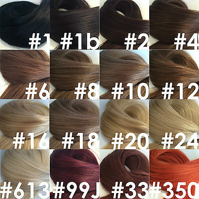 5a Indian Remy 100% Human Hair Extensions 1g double drawn Flat/Nail Tip Russian