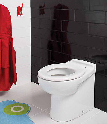 Children's Junior Kids WC Back To Wall BTW Short Projection Pan Low Level Toilet
