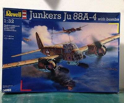 Revell Plastic Model Kit 03988 1/48 Junkers Ju 88A w/bombs Airplane *box damage*