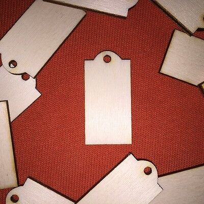50 x SMALL LABEL / TAG n2 round top WOODEN SHAPE BLANKS CRAFT HANGING GIFT TAG
