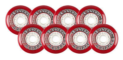 LABEDA WHEELS Inline Hockey GRIPPER 80mm XSOFT RED 76a X8