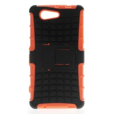 Sony Xperia Z3 Compact Outdoor Case TPU Hybrid Skidproof Kickstand Hülle Orange