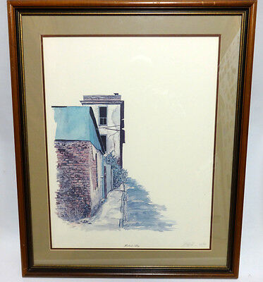 Horlbeck Alley Original George Caso Watercolor Limited Signed Numbered Painting