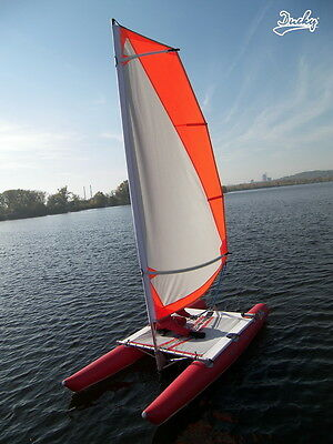 Ducky 13 inflatable foldable sailing catamaran