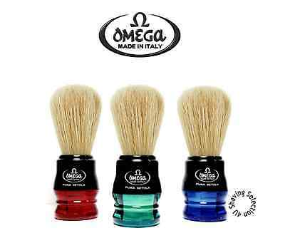 OMEGA Shave Brush - Quality Shave Brush - FREE Brush Stand - Variety of Colours