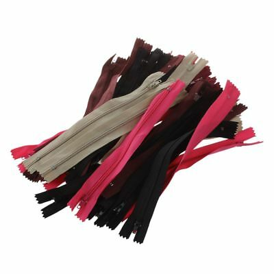 sale 50 Assorted Dress Upholstery Craft Nylon Metal Closed Open Ended Zips WS