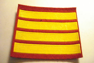 Soviet Patch Officer Candidate Stripe four year badge 4