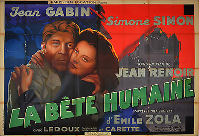 La Bete Humaine - Original French Poster - Very Rare
