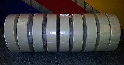 9 x Rolls Of Paper Masking Tape, 25mm x 50m, No Residue
