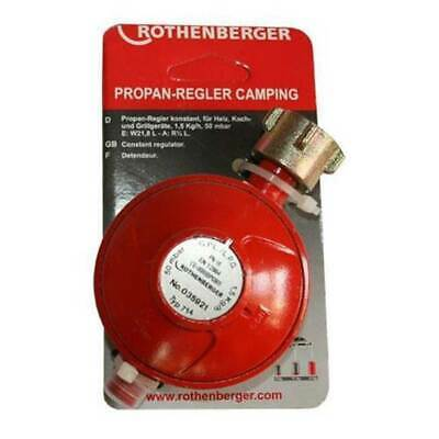 Rothenberger Propangas Druckminderer Gasgrill Grill Camping Regler 50 mbar