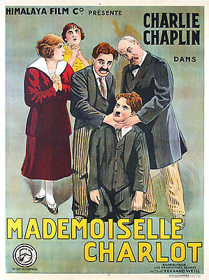 A Woman - Original French Poster - Early Charlie Chaplin - Very Rare