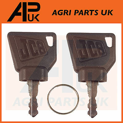 NEW JCB 3CX Ignition Key Pair 2pc for Switch Starter JCB Parts Digger Plant Keys