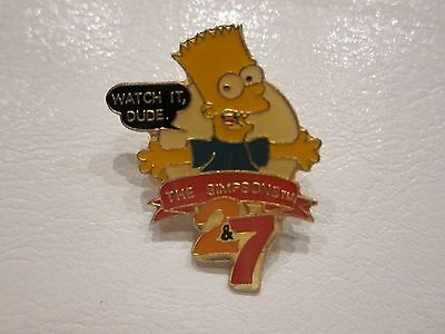 Bart Simpson The Simpsons 2&7 Pin by BJ Sales