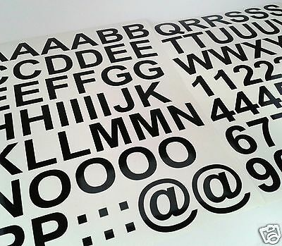 25mm Black Self Adhesive Vinyl Letters Numbers Sticky Back Plastic for Signs etc