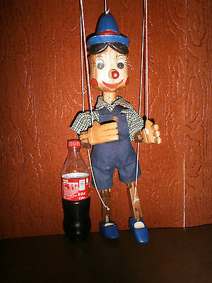 Vintage Marionette Wooden  String Puppet Theater Pinocchio-Buratino Hand Carved