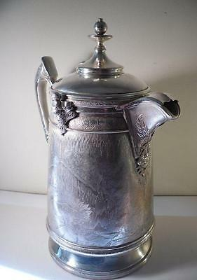 A Large 'Reed & Barton' Ice Pitcher With Original Pot Liner : USA c1875