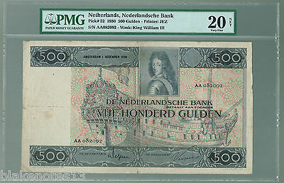 Netherlands Lot P-52 1930 500 Gulden VF Nederlandsche King William Watermark