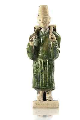 Ancient Antique Chinese Song Dynasty 3 color Sancai terracotta Traveler 1100 AD