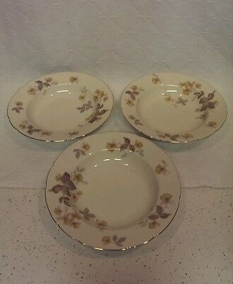 KPM ROYAL IVORY GERMANY SET OF 3 RIMMED SOUP BOWLS
